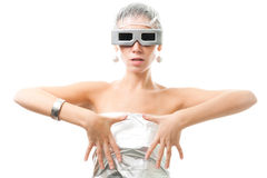 Alien woman from space Stock Photography