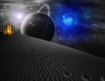 Alien World. High Resolution 3D Illustration Journey in Alien World Stock Photography