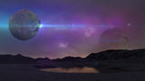 Alien world   in blue Royalty Free Stock Photography