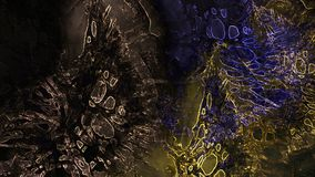 Alien world strange planet concept art eerie atmospheric grunge mysterious misty texture digital abstract illustration background. Alien world strange planet stock photo