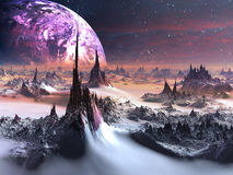 Alien World in Winter Royalty Free Stock Image