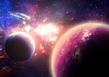 Alien worlds - Elements of this Image Furnished by NASA Royalty Free Stock Images