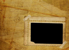 Alienated frame for photo. On the abstract background Royalty Free Stock Photo