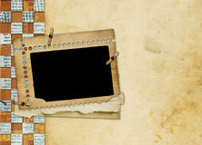Alienated frame for photo. On the abstract background Royalty Free Stock Photos