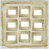 Alienated frame for photo. On the abstract background Royalty Free Stock Photography