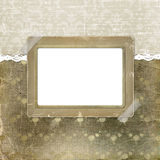 Alienated frame for photo. On the abstract background Stock Image