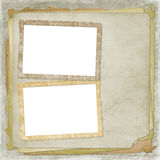 Alienated frame for photo. On the abstract background Stock Photos