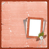 Alienated frame for photo. On the abstract background Stock Photography