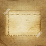 Alienated paper for announcement. On the abstract background Royalty Free Stock Images