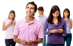 Alienated people chatting Royalty Free Stock Photography