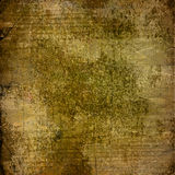 Alienated used paper background. With gold ornamental for announcement Royalty Free Stock Photo