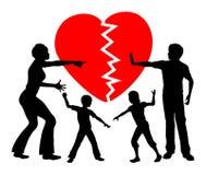 Alienazione parentale Immagine Stock