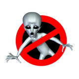 Alienbusters. Ally the alien into alienbusters logo Royalty Free Stock Image