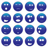 Aliens. Vector collection of funny alien faces Royalty Free Stock Images
