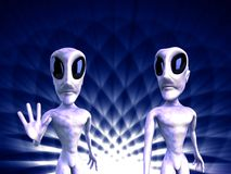 Aliens. 3D generated picture of an extraterrestrial form Royalty Free Stock Photos