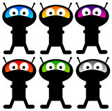 Aliens. In several colors (resolution of image is high enough for the  to be used separately Stock Illustration
