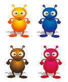 Aliens. Cartoon illustration of Aliens with colors Royalty Free Stock Image