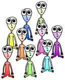 Aliens. Group of aliens on white background. vector image Vector Illustration