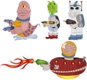 Aliens cartoon collection. Royalty Free Stock Photos