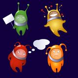 Aliens  in a cartoon style Royalty Free Stock Image