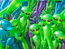 Aliens. Colorful aliens at the carnival Royalty Free Stock Image