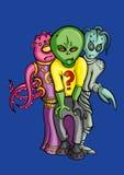 Aliens crew Stock Image