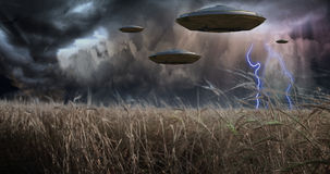 Aliens Invade Royalty Free Stock Photos