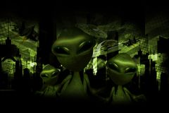Aliens Invasion Theme Royalty Free Stock Image
