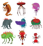 Aliens monsters vector illustration. Stock Photos