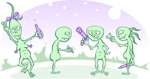 Aliens party Royalty Free Stock Image