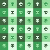Aliens pattern Royalty Free Stock Images