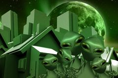 Aliens Real Estate Stock Photos