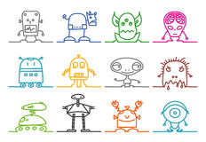 Aliens & robots Stock Photography