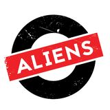 Aliens rubber stamp. Grunge design with dust scratches. Effects can be easily removed for a clean, crisp look. Color is easily changed vector illustration