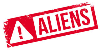 Aliens rubber stamp Stock Images