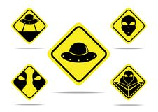 Aliens sign design Stock Images