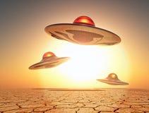 Aliens in the sky Stock Image