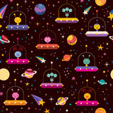 Aliens space pattern Stock Images