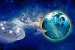 Aliens Spacecrafts Royalty Free Stock Photos