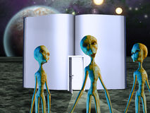 Aliens Story Book Royalty Free Stock Photography