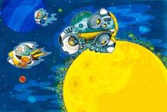 The aliens subject - ufo -starships Stock Photography