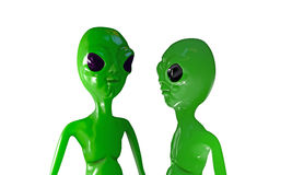 Aliens talking Stock Photo