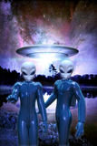 Aliens and ufo Stock Photography