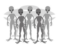 Aliens on white. Royalty Free Stock Photos