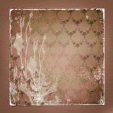Alienuję używał papierowego tło z ornamentacyjnym Zdjęcia Royalty Free