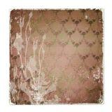 Alienuję używał papierowego tło z ornamentacyjnym Obraz Stock