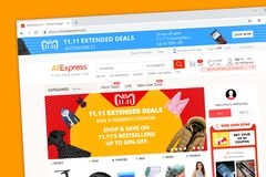 AliExpress smarter shopping better living website homepage run by the Alibaba group stock image