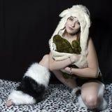 Aligator dziewczyna Obraz Royalty Free