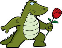 aligatora kwiat ilustracja wektor