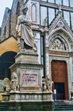 alighieri dante sławna Florence Italy poety statua Obrazy Stock